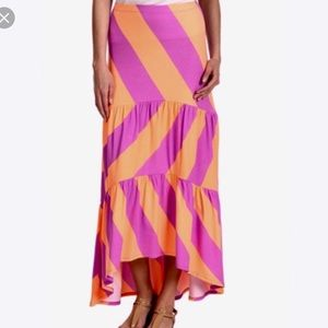 Lilly Pulitzer high low maxi skirt neon orange